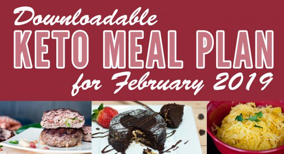 Downloadable Keto Meal Plan for February
