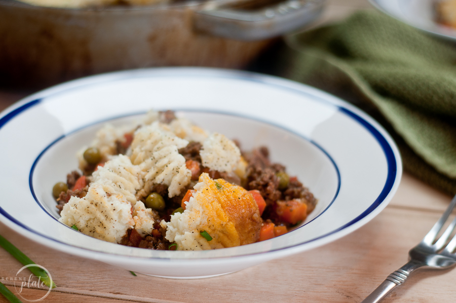 Healthy Shepherds Pie in bowl